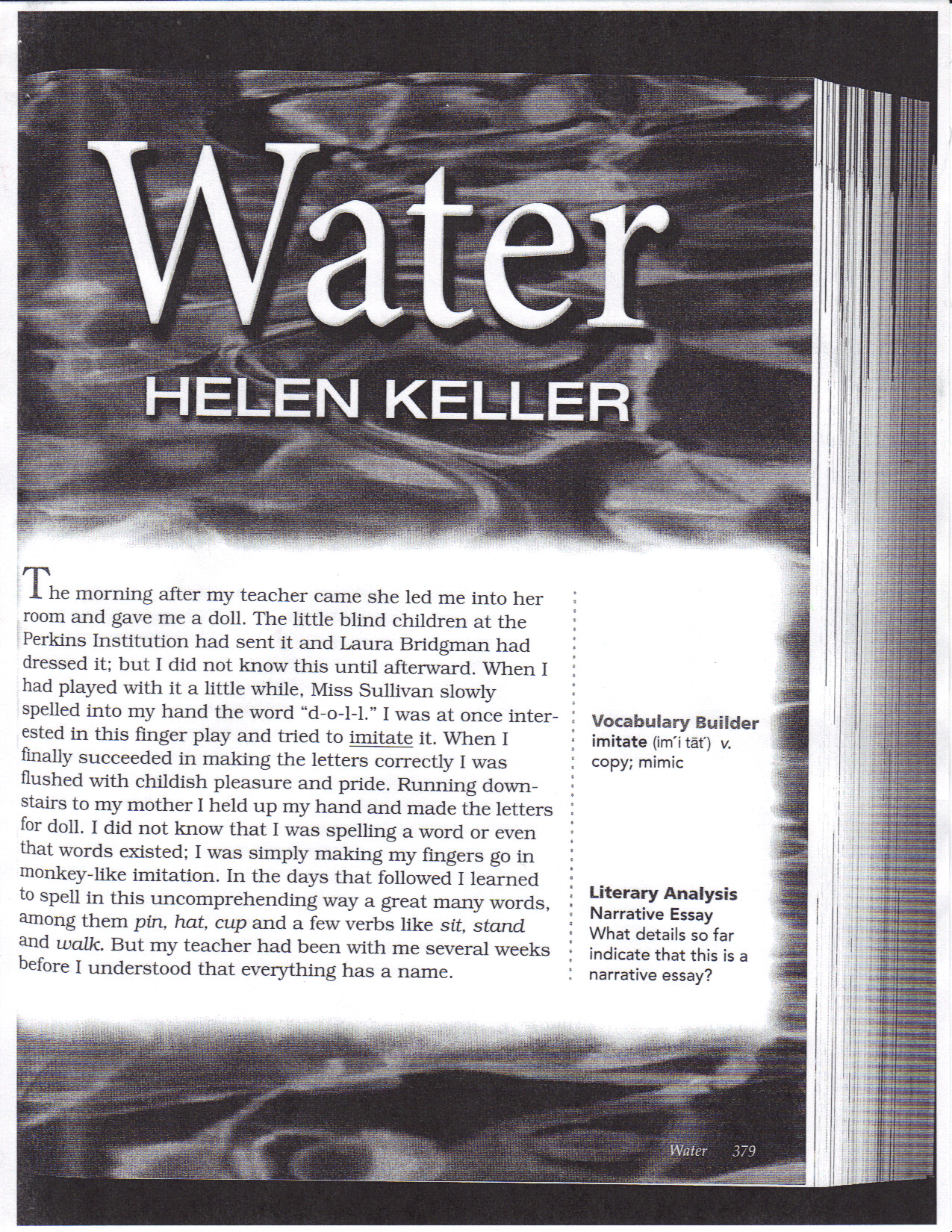 essay written by helen keller Essay on helen keller - if you want to find out how to make a amazing term paper, you need to study this get to know basic tips how to receive a plagiarism free themed dissertation from a.